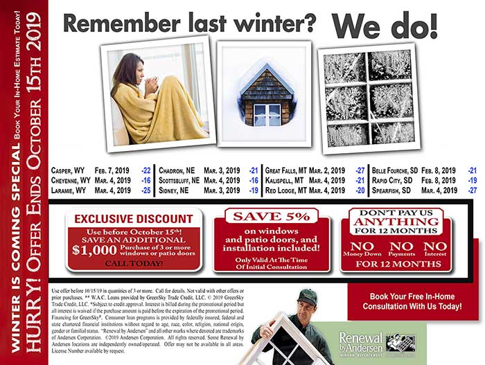 New Winter Mailer Front 2019