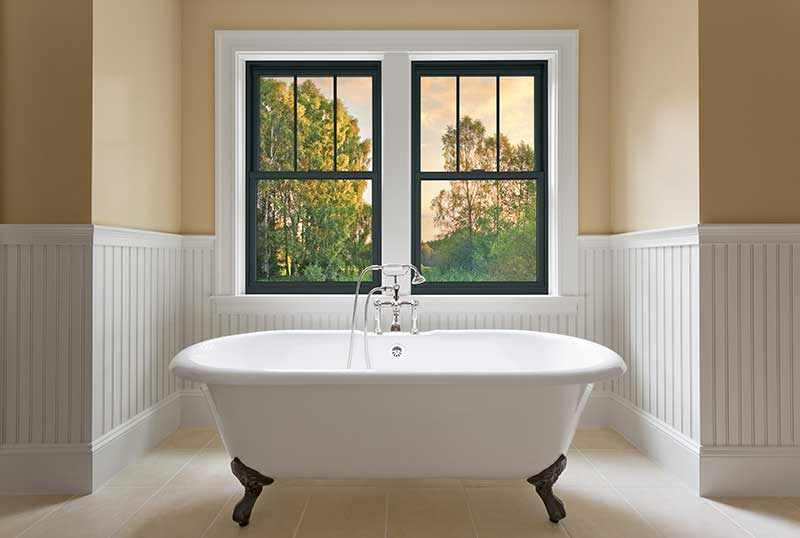 Double-Hung Bathroom Window